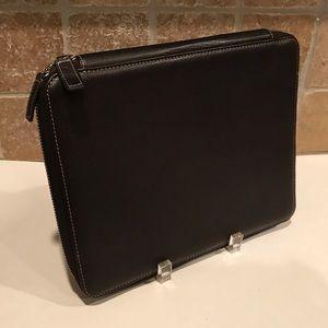 🆕Levenger Leather Bomber Jacket IPad Tablet Case